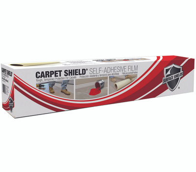 Surface Shields CS24100 Carpet Shield Self Adhesive Carpet Mask Clear 24 Inch By 100 Foot