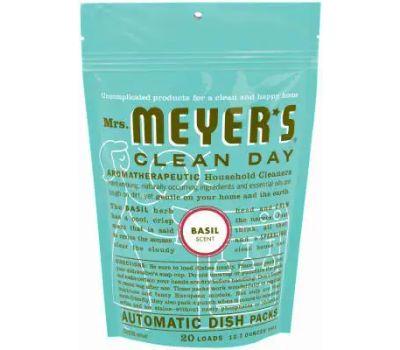 Mrs Meyers 14464 Dishwasher Auto Pk Basil 20ct 20 Pack