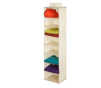 Honey Can Do SFT-01253 8 Shelf Hanging Organizer Natural