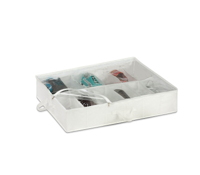 Honey Can Do SFT-01580 Under The Bed Or Hanging 12 Compartment Shoe Storage Bag With Zipper And Carrying Handles