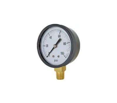 Valley Industries CS-1124DAB100 Gauge Pressure Dry Ss 2in
