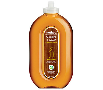 Method Products 00562 Squirt + Mop 562 Wood Floor Cleaner, 25 Ounce Bottle, Liquid, Almond, Amber