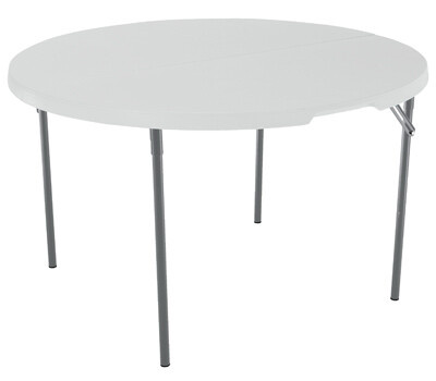 Lifetime 280064 48 Inch Wht Rnd Fold Table