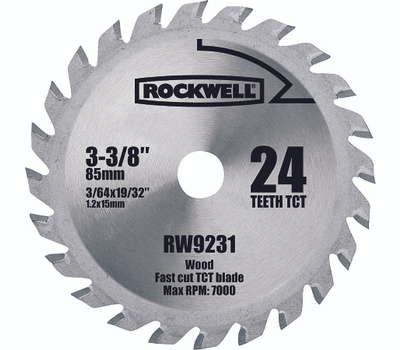 Rockwell RW9231 3-3/8 Inch 24 Tooth Carbide Blade For Versacut