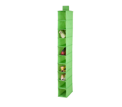 Honey Can Do SFT-02818 10 Shelf Hanging Shoe Organizer Lime Green Color