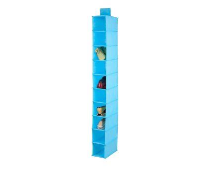 Honey Can Do SFT-02821 10 Pocket Hanging Shoe Organizer Ocean Blue Color