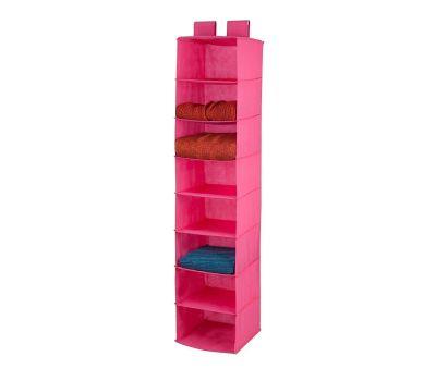 Honey Can Do SFT-03055 8 Shelf Hanging Organizer Pink