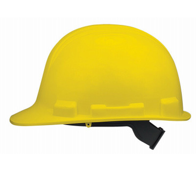 Safety Works SWX00345-01 V Gard Yellow Hard Hat With 1 Touch Suspension