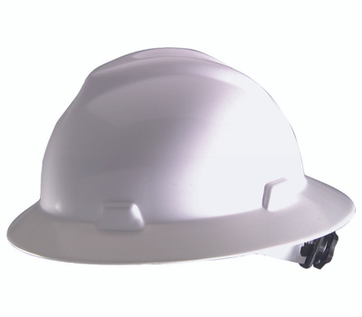 Safety Works SWX00358-01 Swx00358 Hard Hat, 4-Point Textile Suspension, Hdpe Shell, White, Class: E