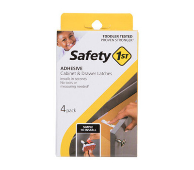 Safety 1st Dorel HS310 Adhes Cabinet Latch 4 Pack