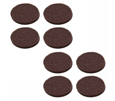 National Hardware S845-315 Stanley Medium Duty Self Adhesive Felt Pads 1 Inch Round Brown 8 Pack