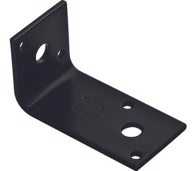 National Hardware N351-481 Offset Leg Corner Brace 2-15/16 By 1.7 By 1-1/2 By 1/8 Inch Black Finish Steel Bulk