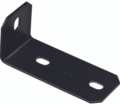 National Hardware N351-498 Offset Leg Corner Brace 6.8 By 3 By 3 By 1/8 Inch Black Finish Steel Bulk