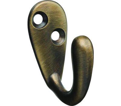 National Hardware N830-140 Single Prong Robe Hook Antique Brass
