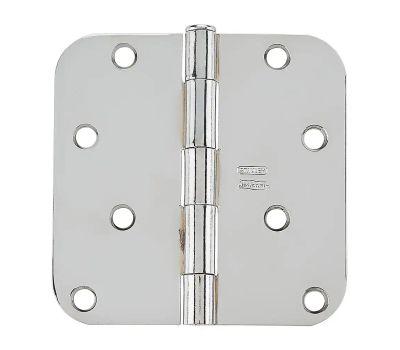 National Hardware N830-180 Door Hinge 4 Inch 5/8 Radius Polished Chrome