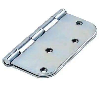 National Hardware N830-189 Door Hinge 4 Inch 5/8 Radius Zinc