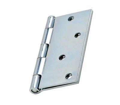 National Hardware N830-195 Door Hinge 4 Inch Square Corner Zinc