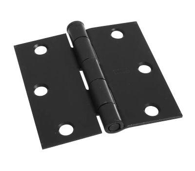 National Hardware N830-203 Door Hinge 3-1/2 Inch Square Corner Oil Rubbed Bronze