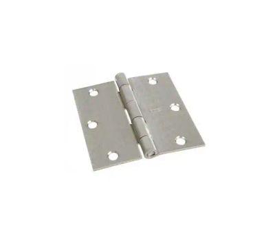 National Hardware N830-248 Door Hinge 3-1/2 Inch Square Corner Satin Nickel