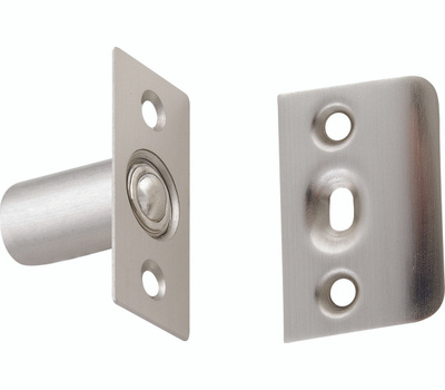 National Hardware N830-282 Adjustable Ball Catch With Plates 1 By 2-1/8 Inch Satin Nickel