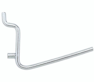 National Hardware N180-001 Angled Multi Fit 2-1/2 Inch Pegboard Hooks 5 Pack