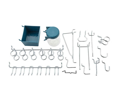National Hardware N112-058 Pegboard Hook And Tool Organizing 43 Piece Assortment