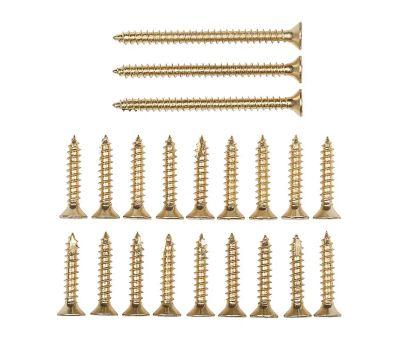 National Hardware N109-189 Door Hinge Reinforcement Screws #9 By 1 & 2-1/4 Inch Bright Brass