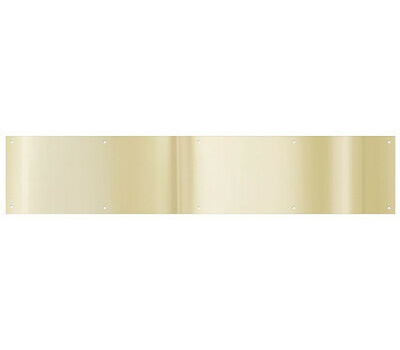 National Hardware N270-306 Kick Plate 8 By 34 Inch Bright Brass Anodized Aluminum