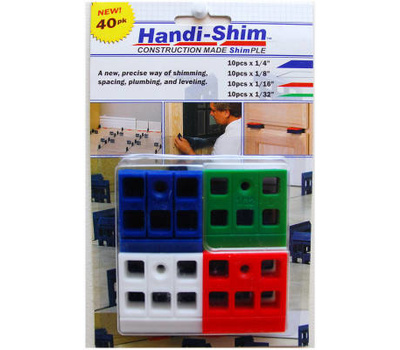 Handi Shim HS4010A Assorted Plastic Shims (Pack Of 40)