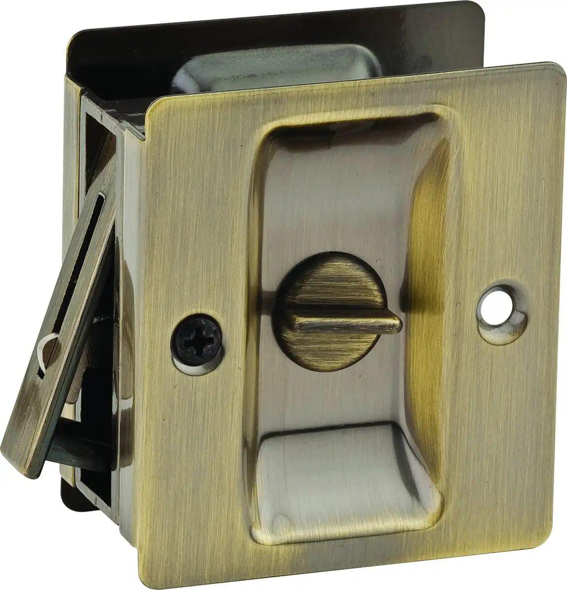Pocket Door Latch Brass